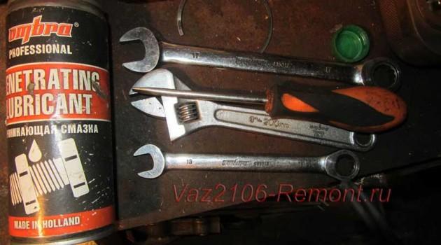 инструмент для замены передних амортизаторов на ВАЗ 2106